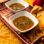 Green mango lentil soup