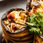 Eggplant orzo