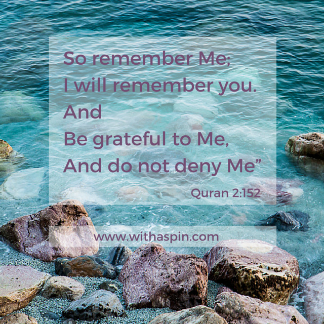 Quran quotes about Thanksgiving | 2:152
