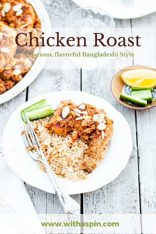 Traditional bangladeshi style chicken roast recipe with a spin chicken roast recipe forumfinder Images